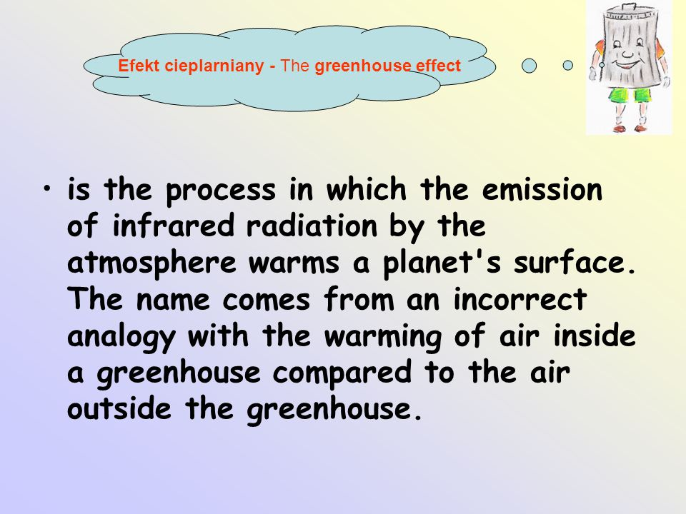Efekt cieplarniany - The greenhouse effect