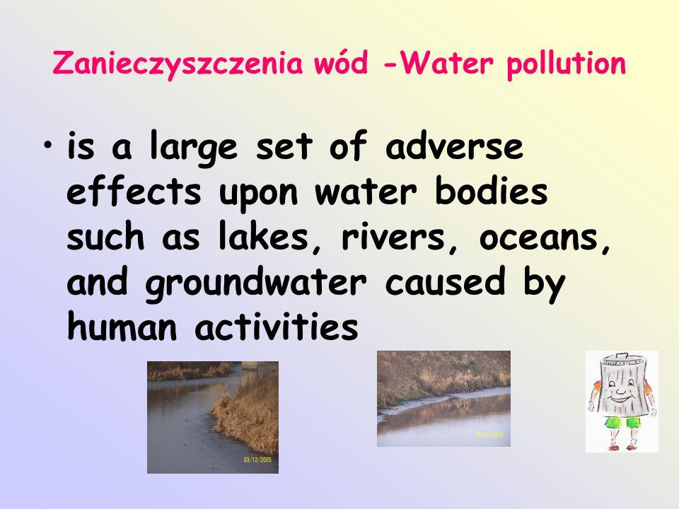 Zanieczyszczenia wód -Water pollution