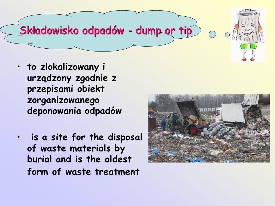 Składowisko odpadów - dump or tip