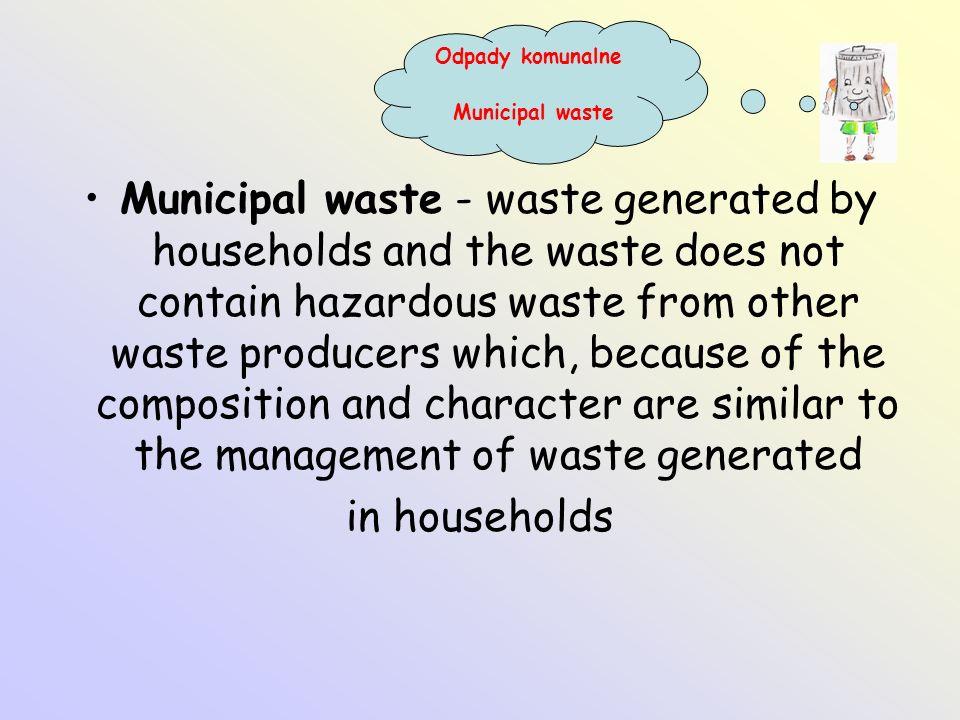 Odpady komunalne Municipal waste