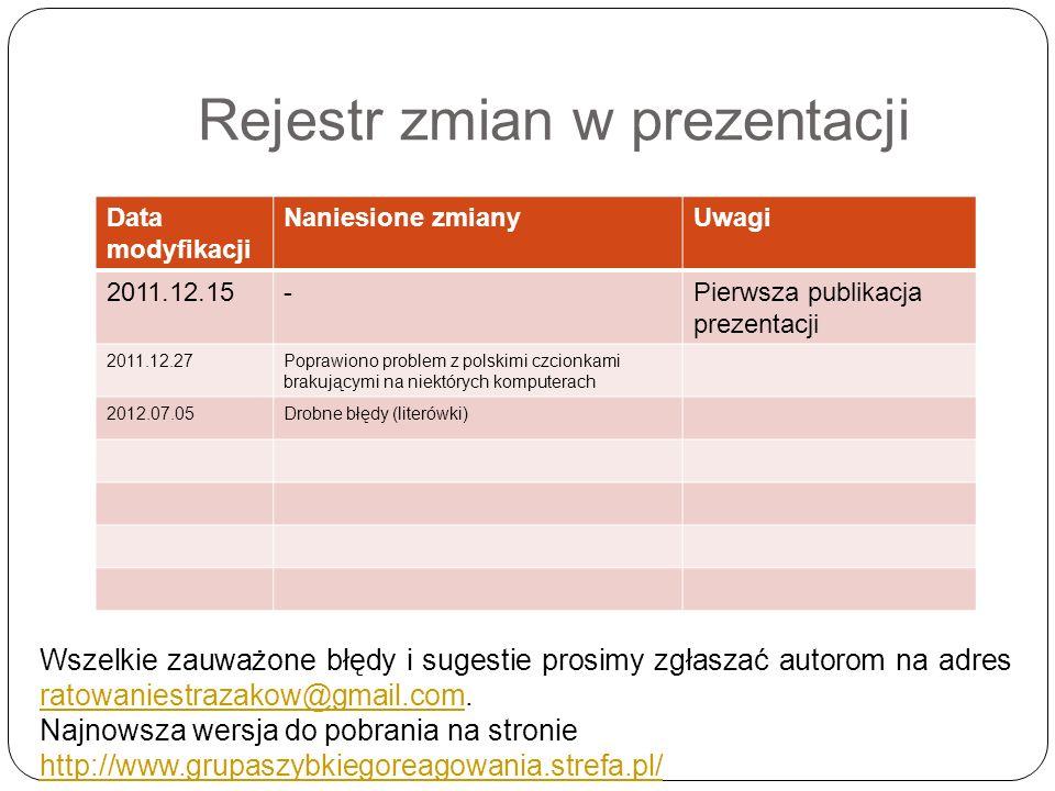 Rejestr zmian w prezentacji