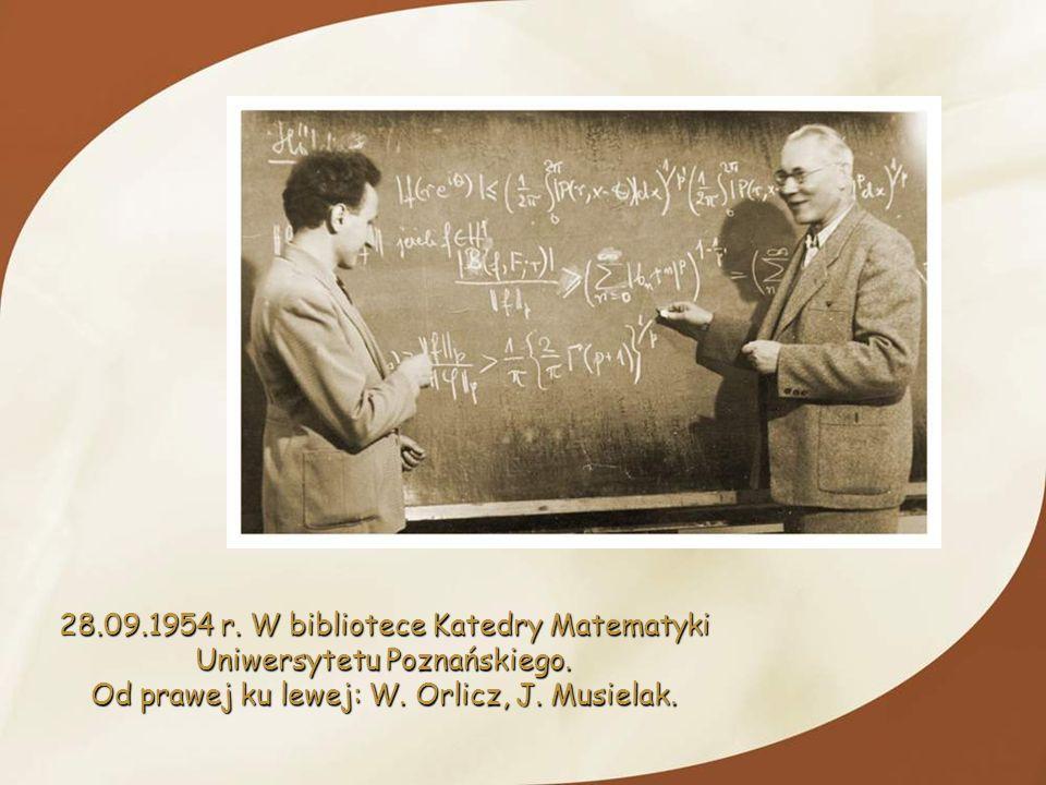 28.09.1954 r. W bibliotece Katedry Matematyki