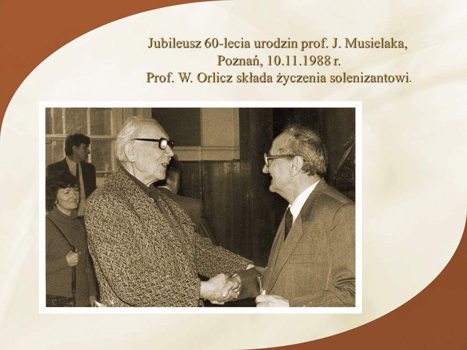 Jubileusz 60-lecia urodzin prof. J. Musielaka, Poznań, 10.11.1988 r.