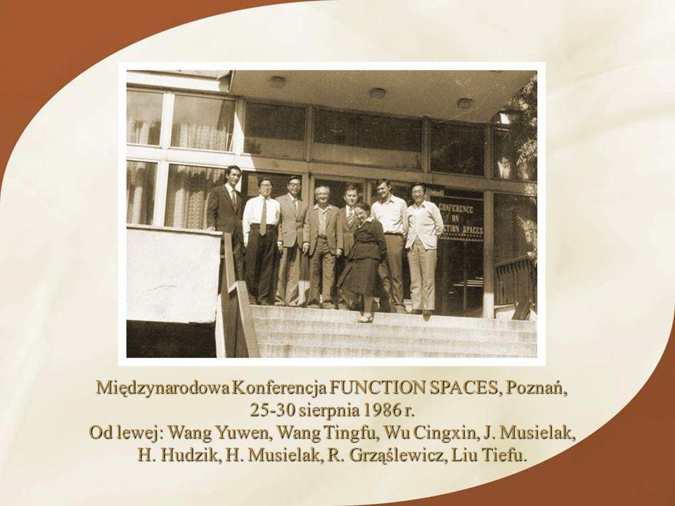 Międzynarodowa Konferencja FUNCTION SPACES, Poznań,