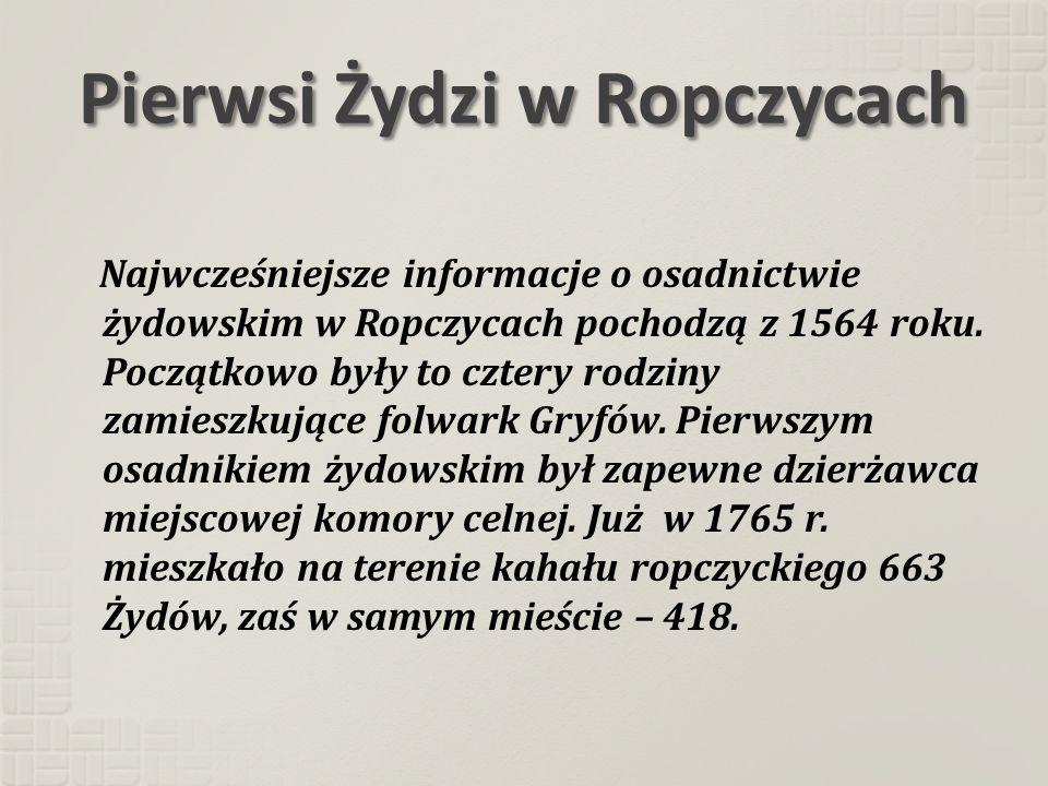 Pierwsi Żydzi w Ropczycach