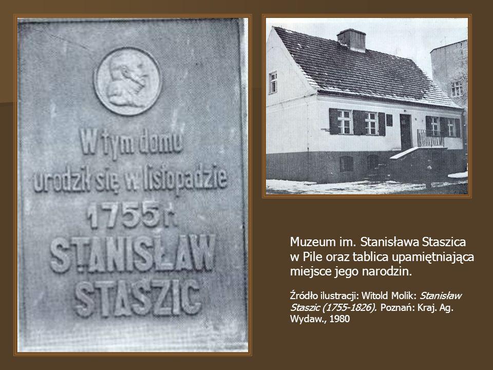 Muzeum im. Stanisława Staszica w Pile oraz tablica upamiętniająca miejsce jego narodzin.