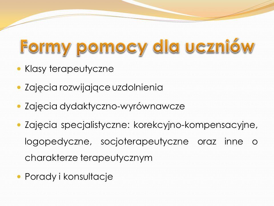 Formy pomocy dla uczniów