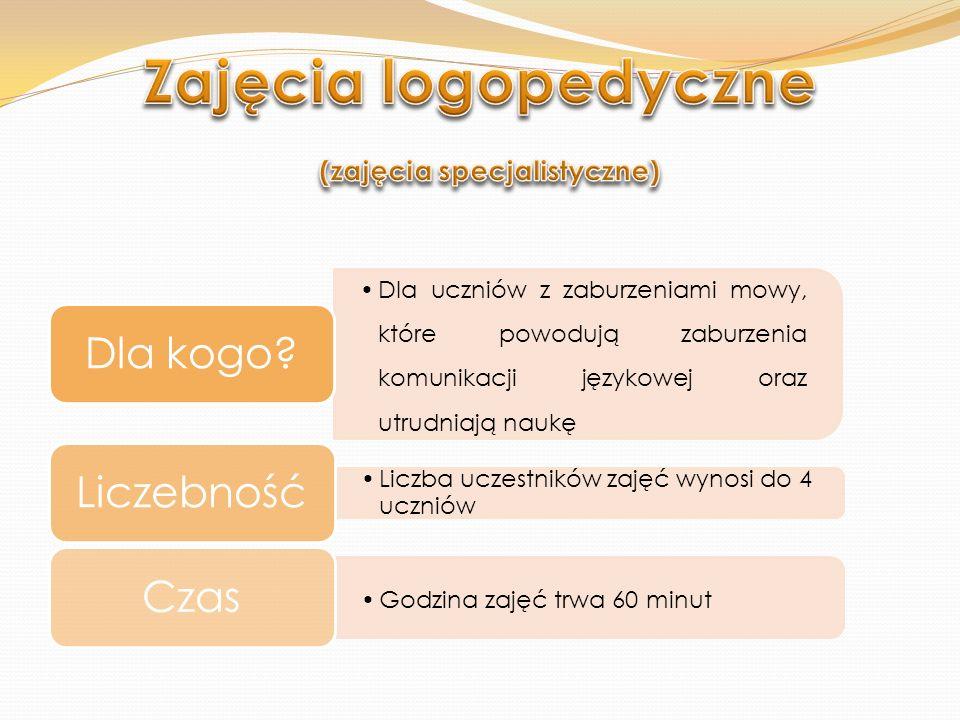 Zajęcia logopedyczne (zajęcia specjalistyczne)