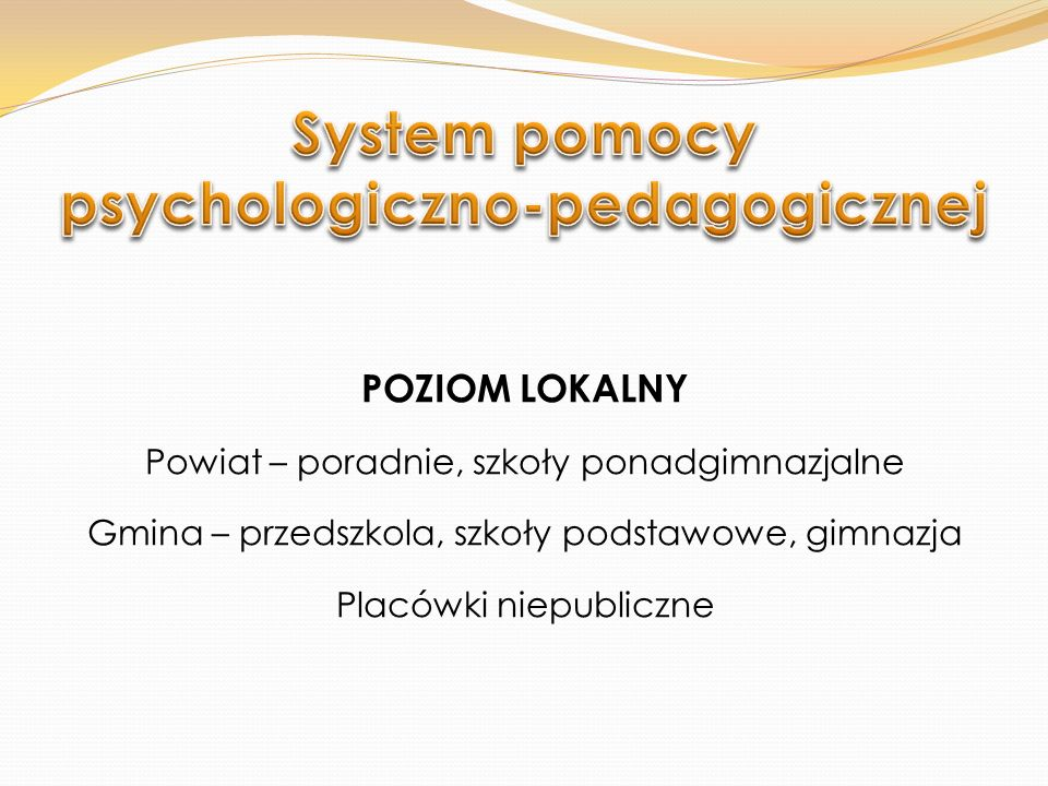 System pomocy psychologiczno-pedagogicznej