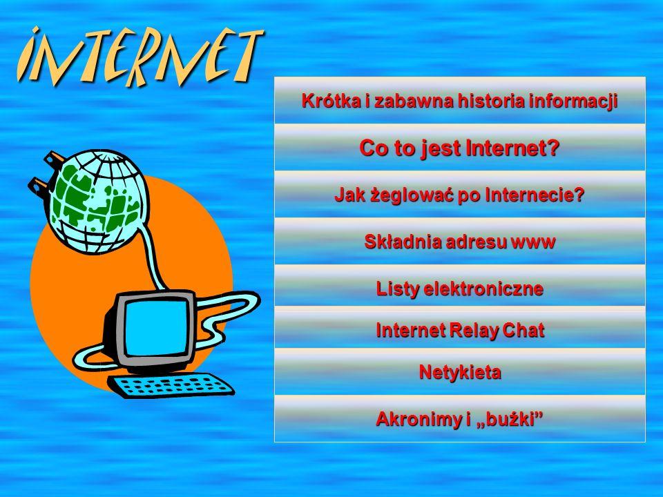 Krótka i zabawna historia informacji Jak żeglować po Internecie