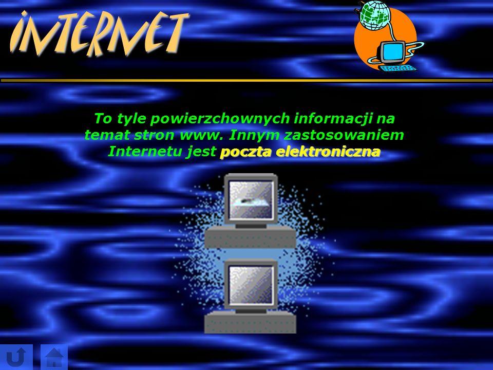 Internet To tyle powierzchownych informacji na temat stron www.