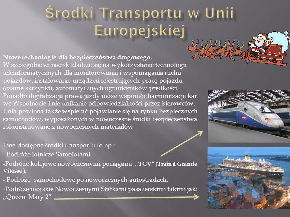 Środki Transportu w Unii Europejskiej