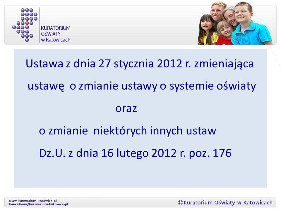 Ustawa z dnia 27 stycznia 2012 r