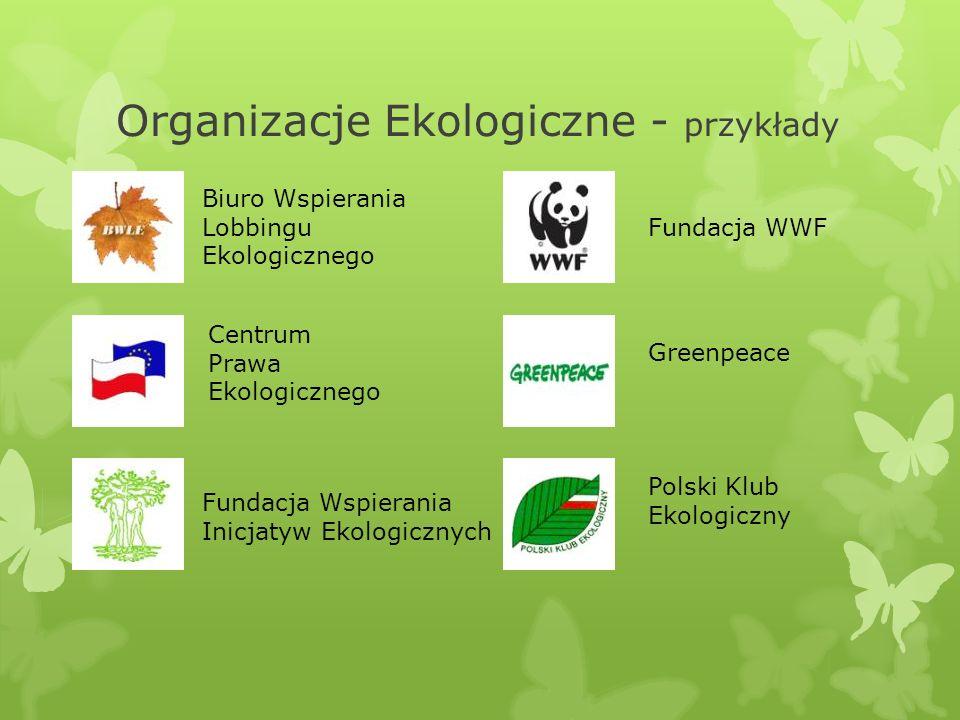 Organizacje Ekologiczne - przykłady