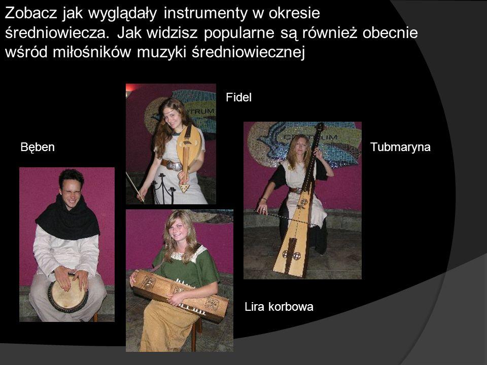 Zobacz jak wyglądały instrumenty w okresie średniowiecza