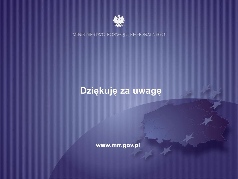 Dziękuję za uwagę www.mrr.gov.pl 10 10