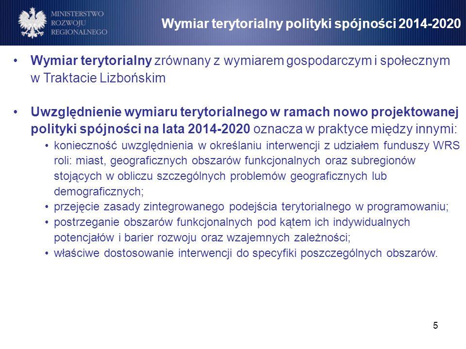 Wymiar terytorialny polityki spójności 2014-2020