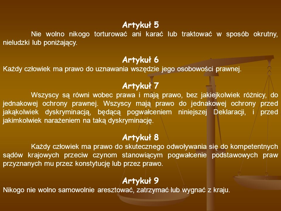 Artykuł 5 Artykuł 6 Artykuł 7 Artykuł 8