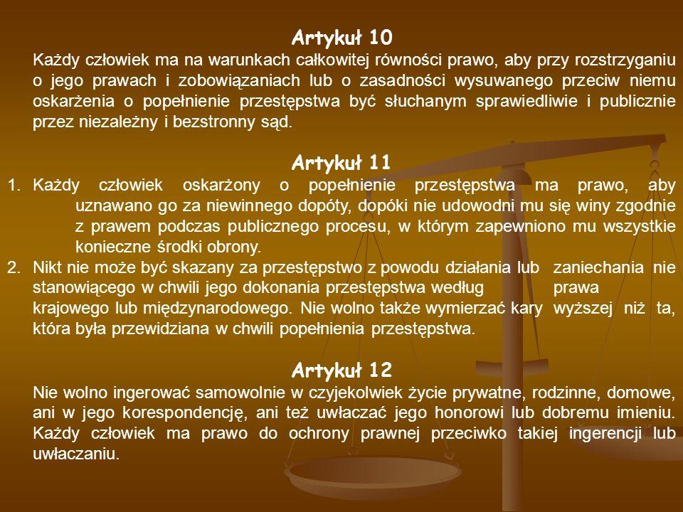 Artykuł 10 Artykuł 11 Artykuł 12
