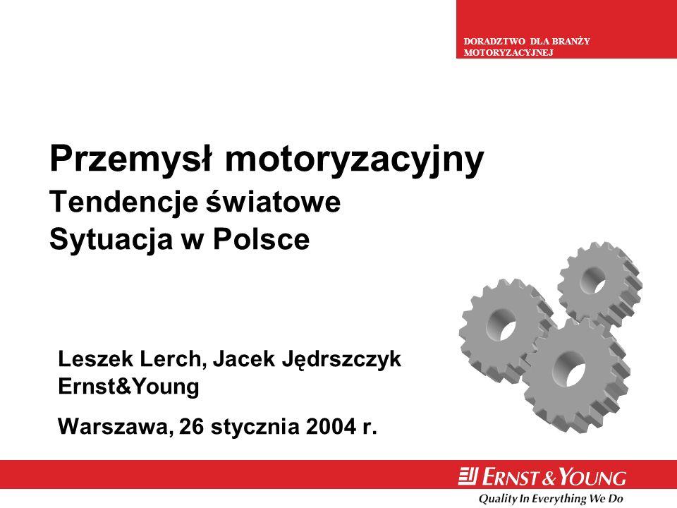 Przemysł motoryzacyjny Tendencje światowe Sytuacja w Polsce