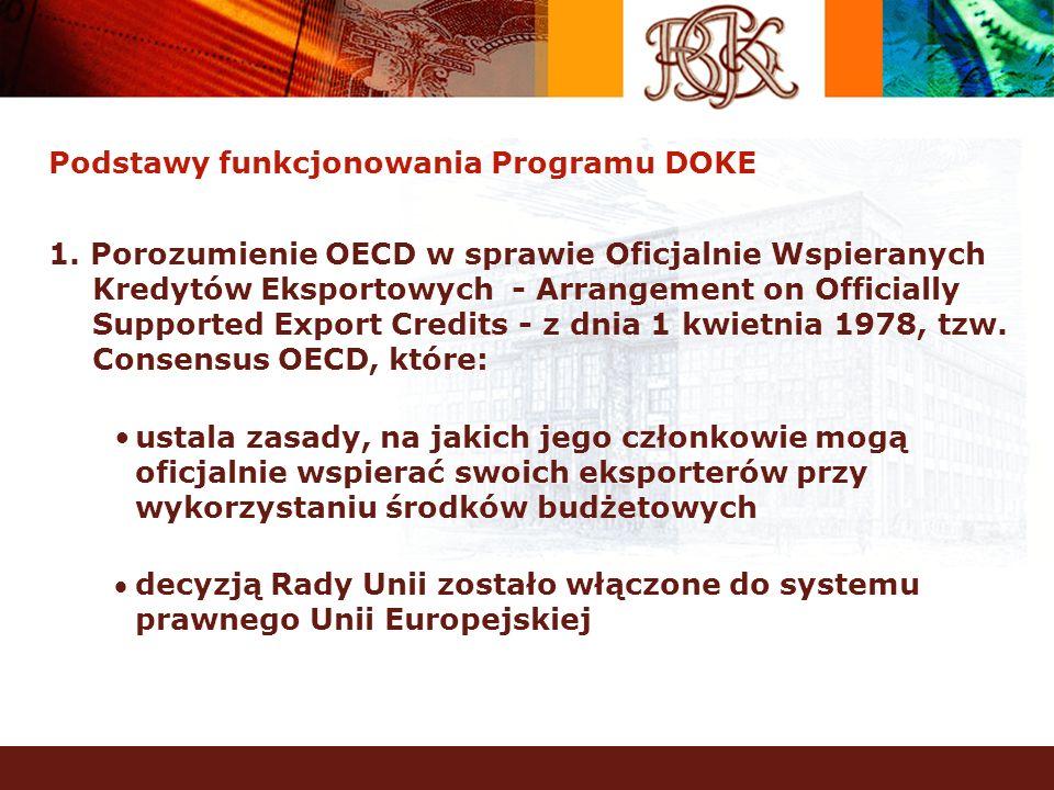 Podstawy funkcjonowania Programu DOKE