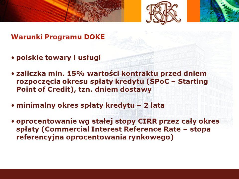 Warunki Programu DOKE polskie towary i usługi.