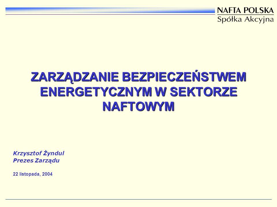 ZARZĄDZANIE BEZPIECZEŃSTWEM ENERGETYCZNYM W SEKTORZE NAFTOWYM