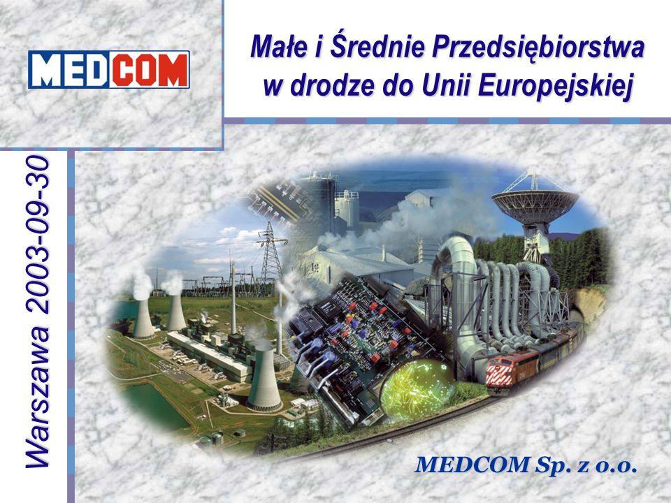 Małe i Średnie Przedsiębiorstwa w drodze do Unii Europejskiej