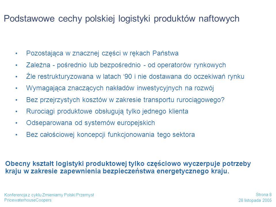 Podstawowe cechy polskiej logistyki produktów naftowych