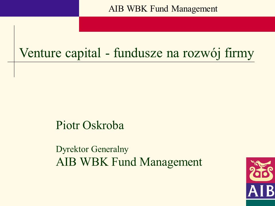 Venture capital - fundusze na rozwój firmy