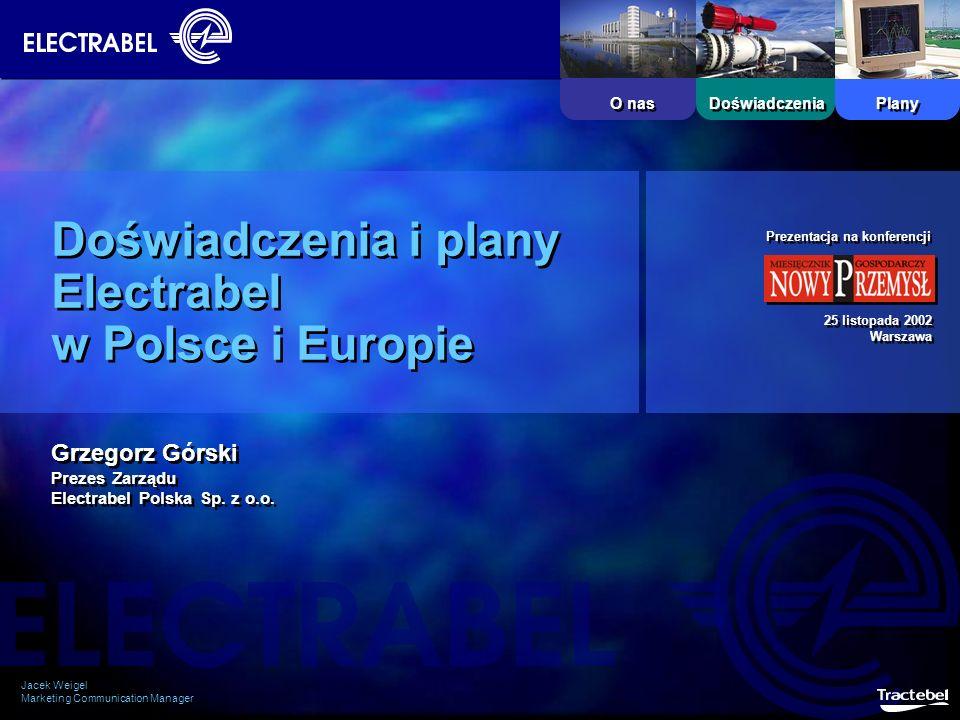 Doświadczenia i plany Electrabel w Polsce i Europie
