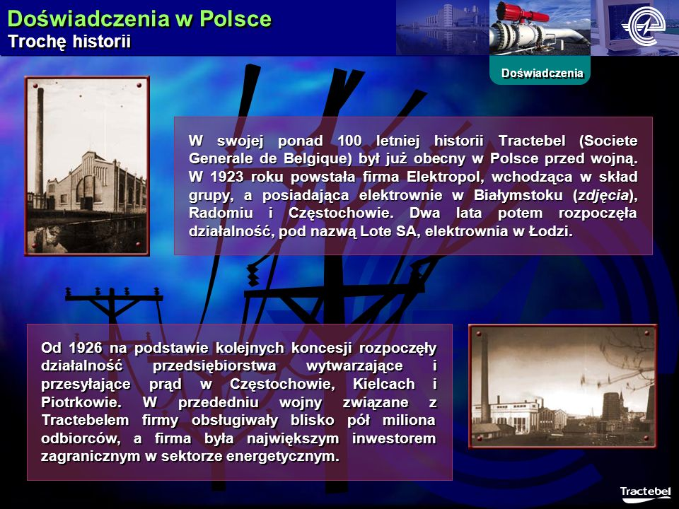 Doświadczenia w Polsce Trochę historii