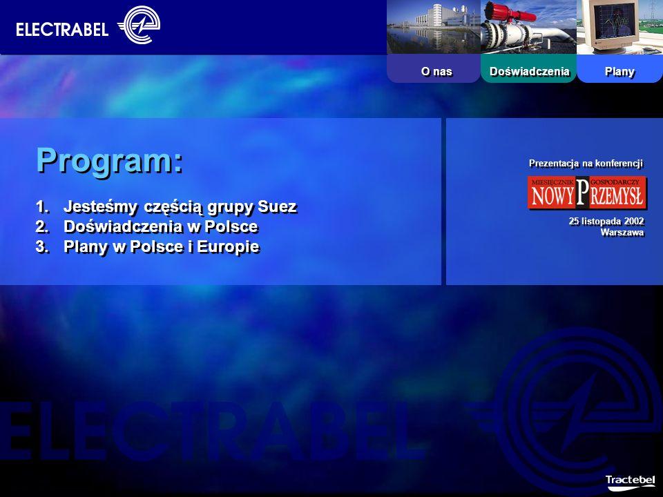 Program: Jesteśmy częścią grupy Suez Doświadczenia w Polsce