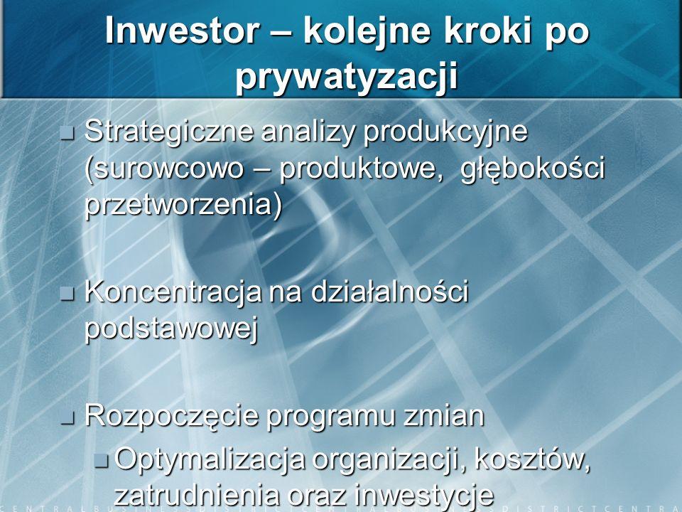 Inwestor – kolejne kroki po prywatyzacji
