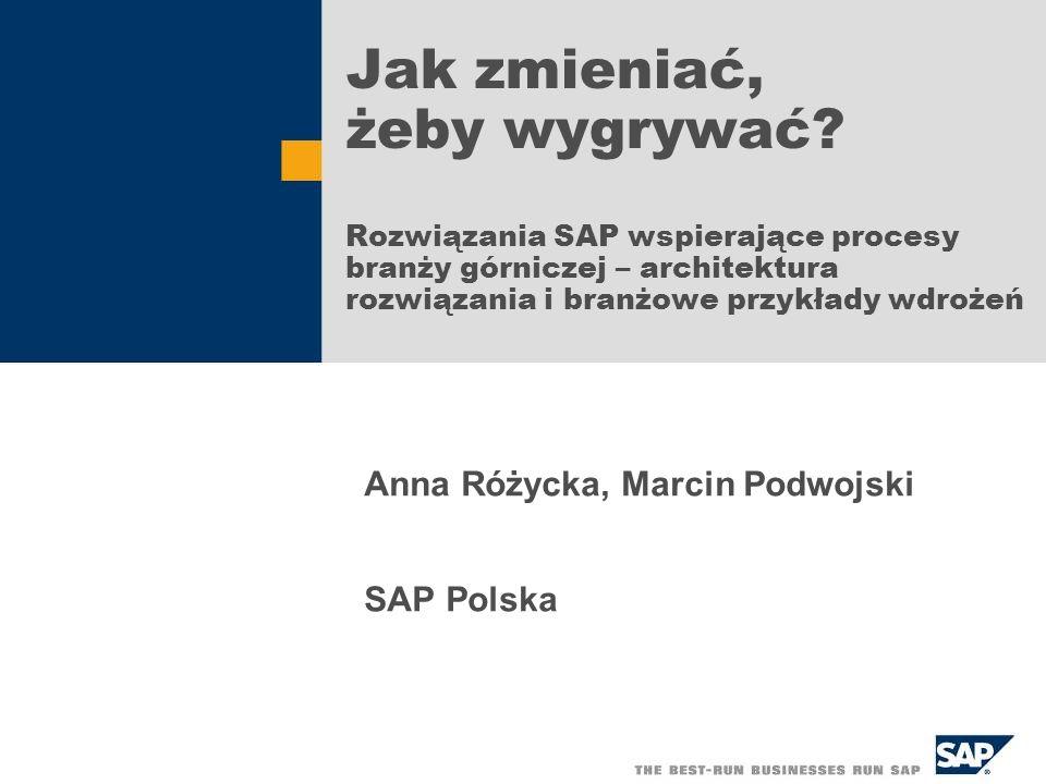 Anna Różycka, Marcin Podwojski SAP Polska