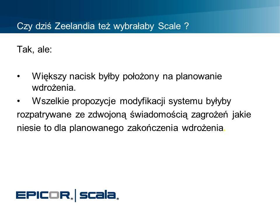 Czy dziś Zeelandia też wybrałaby Scale