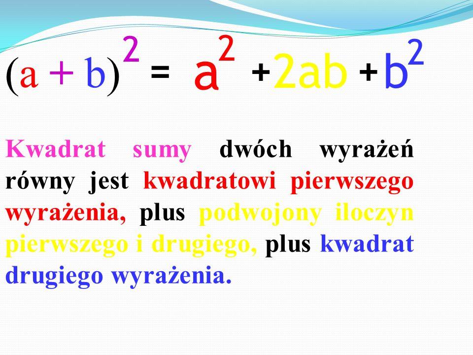 (a + b) 2. a. 2. b. 2. 2ab. = + +