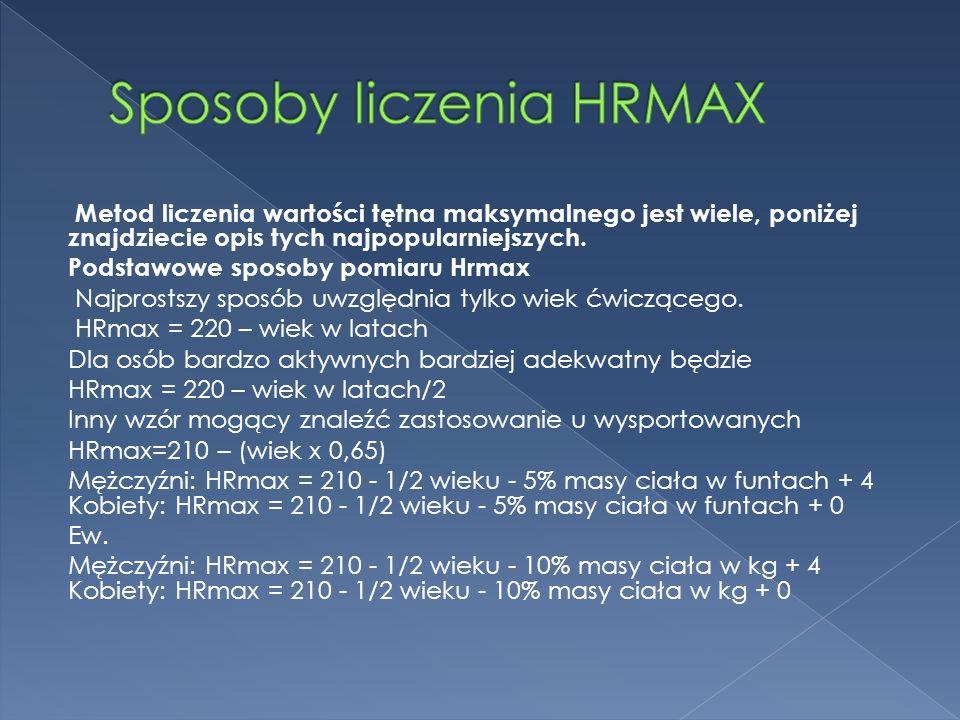 Sposoby liczenia HRMAX