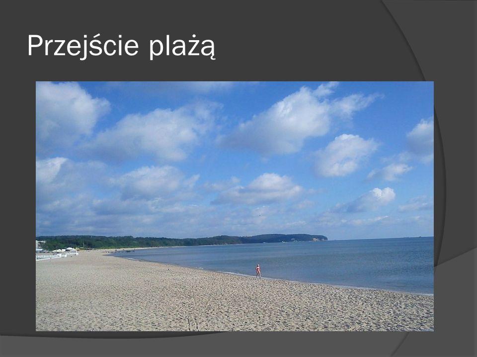 Przejście plażą
