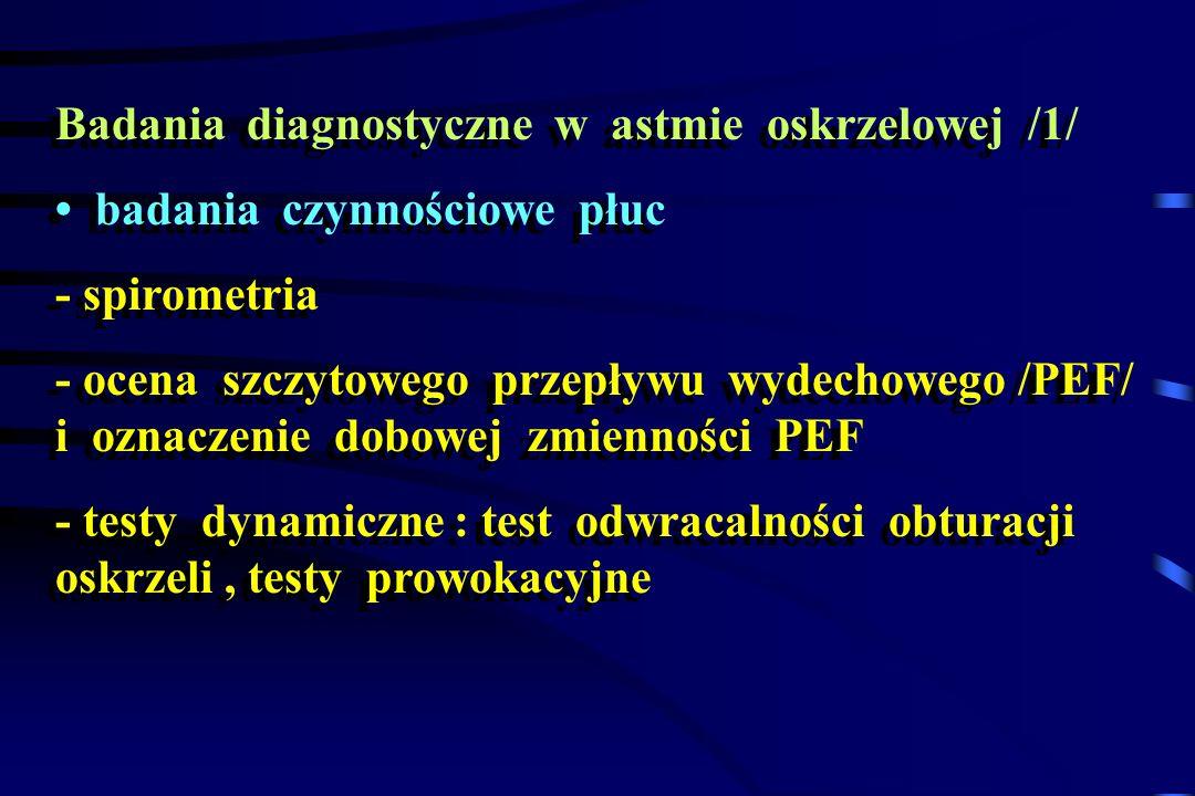 Badania diagnostyczne w astmie oskrzelowej /1/