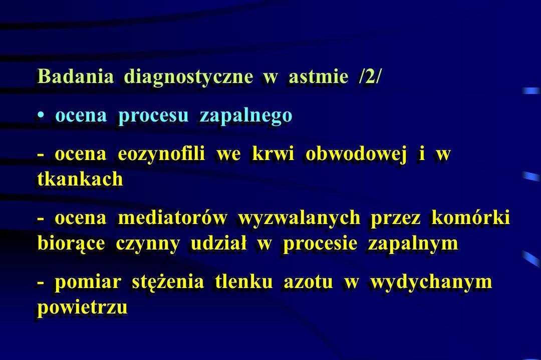 Badania diagnostyczne w astmie /2/