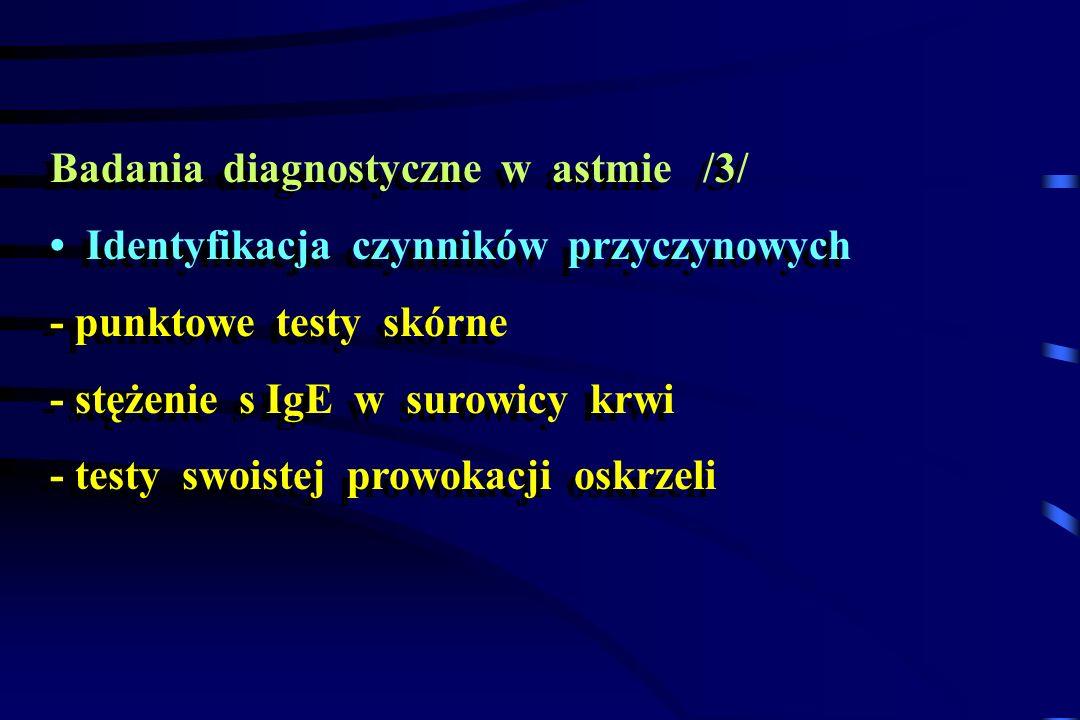 Badania diagnostyczne w astmie /3/