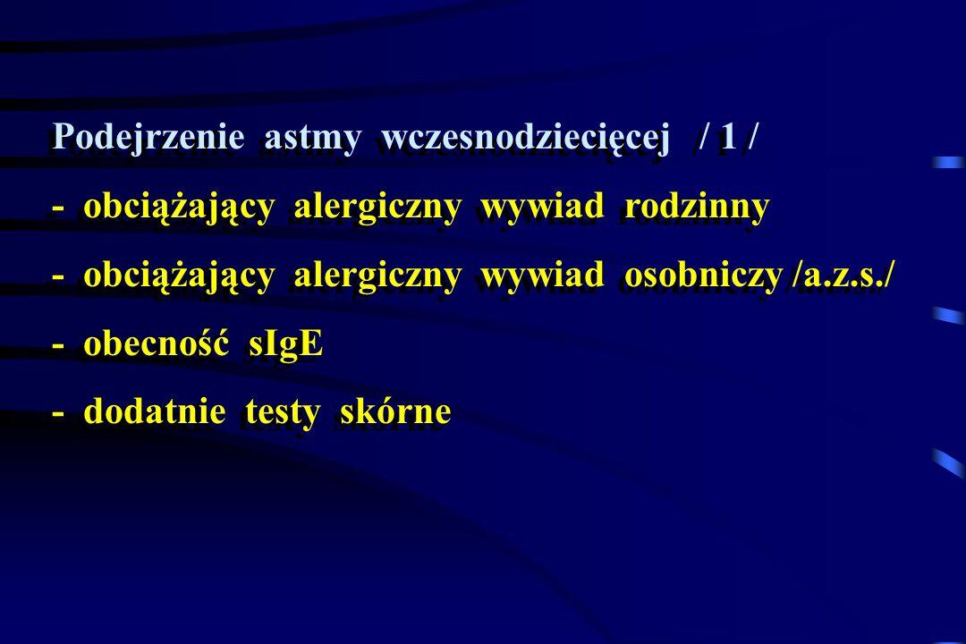Podejrzenie astmy wczesnodziecięcej / 1 /