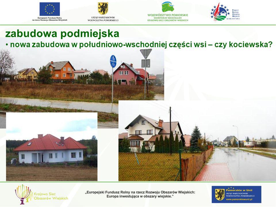 zabudowa podmiejska nowa zabudowa w południowo-wschodniej części wsi – czy kociewska