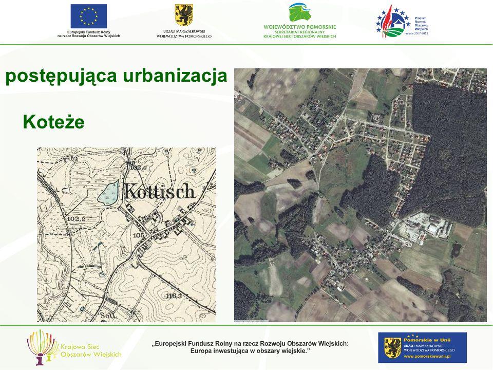 postępująca urbanizacja