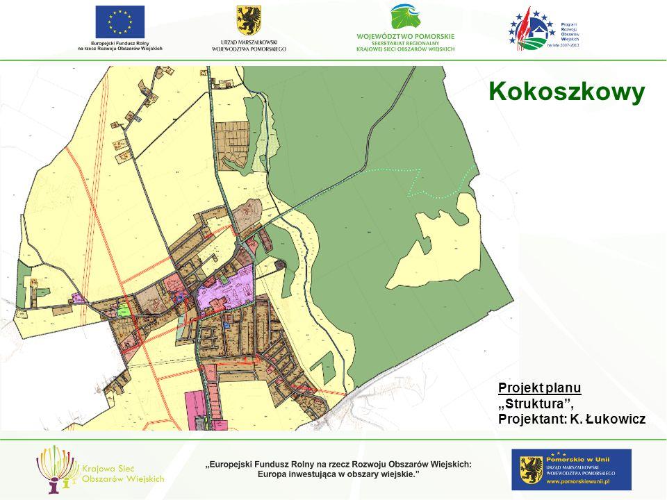 """Kokoszkowy Projekt planu """"Struktura , Projektant: K. Łukowicz"""