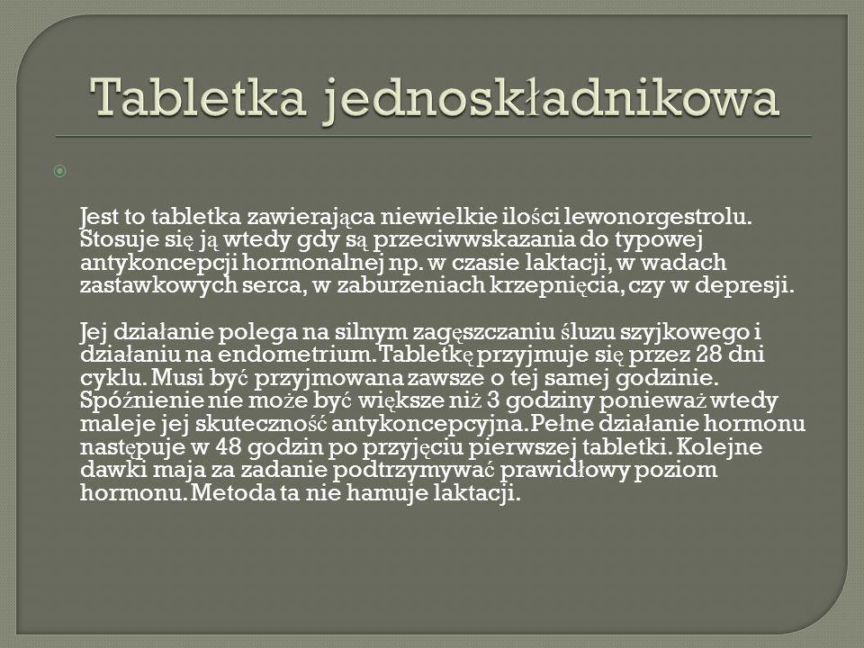 Tabletka jednoskładnikowa
