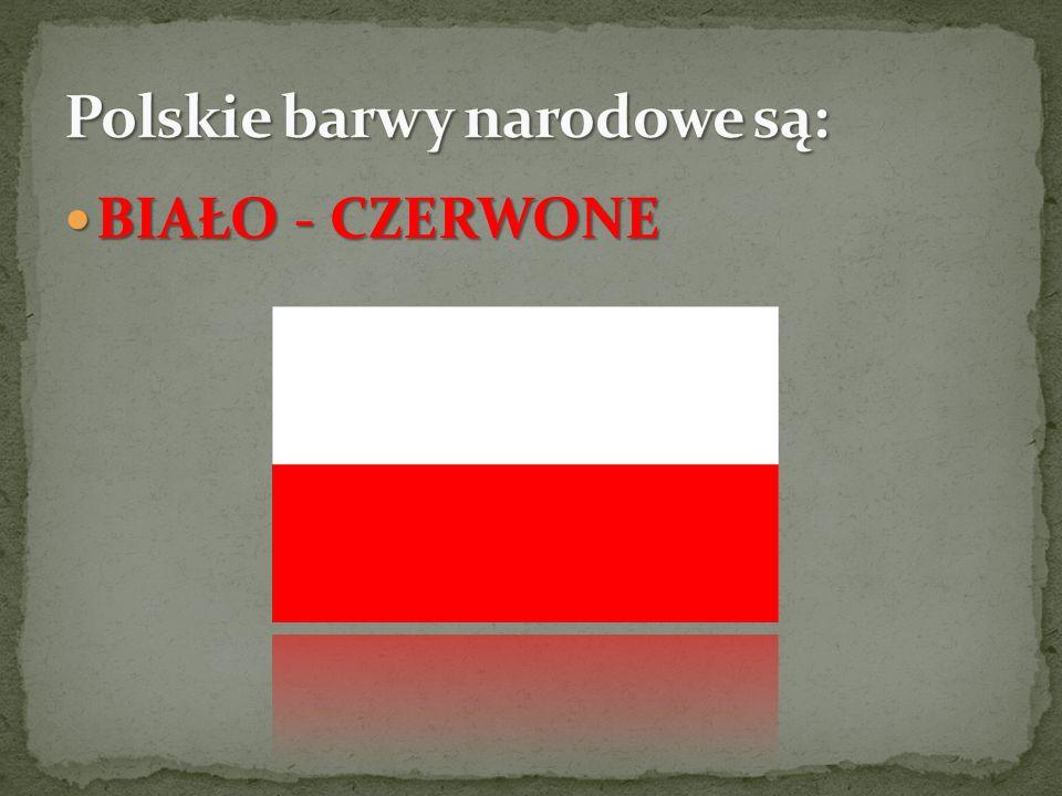 Polskie barwy narodowe są: