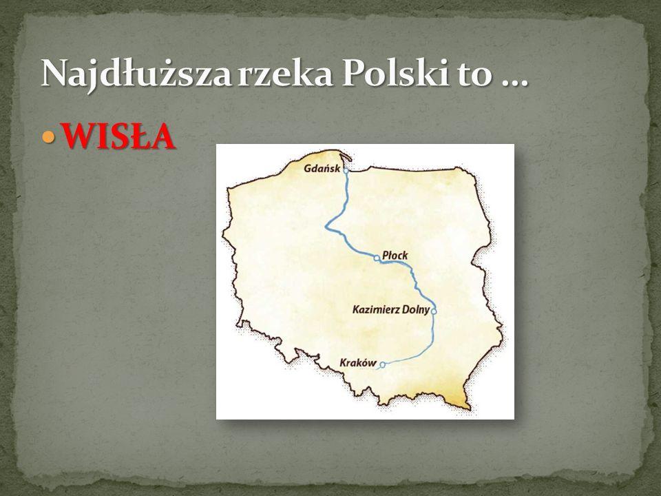 Najdłuższa rzeka Polski to …