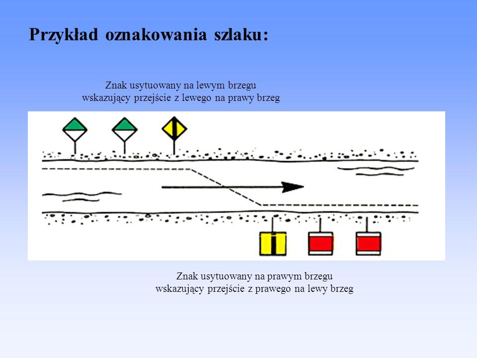 Przykład oznakowania szlaku: